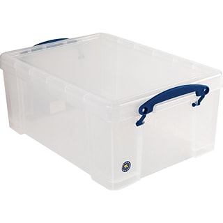 Really Useful Box® 9 Liter Snap Lid Storage Bin, Clear (9L CL)