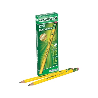 Ticonderoga Beginners Wooden Pencils, No. 2 Soft Lead, Dozen (13308)