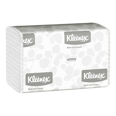 Kleenex Multifold Paper Towel, 1-Ply, White, 150 Sheets/Pack, 16 Packs/Carton (01890)