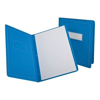 Oxford 3-Prong Report Covers, Letter, Light Blue, 25/Box (OXF 52501)
