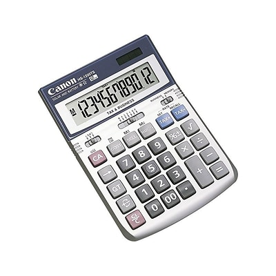 Canon HS-1200TS 7438A023AA 12-Digit Desktop Calculator, Gray/Silver
