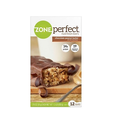 ZonePerfect Bars, Chocolate Peanut Butter, 1.76 Oz., 12/Box (EAS63161)