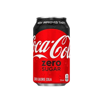 Coca-Cola Zero Sugar Diet Cola Soda, 12 Oz., 24/Carton (00049000042559)