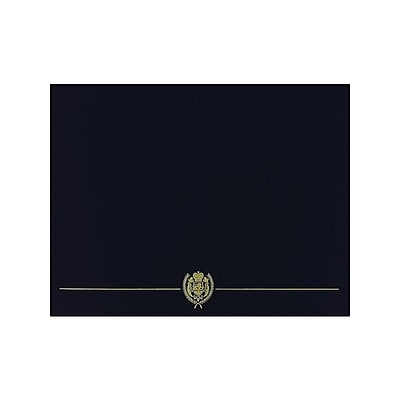 Great Papers Classic Crest 9.38 x 12 Certificate Covers, Black, 5/Pack (903117S)