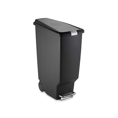 simplehuman Indoor Step Trash Can, Black Plastic, 10.5 Gal. (CW1361)