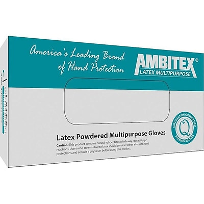 Ambitex L5101 Series Cream Latex Gloves, Medium, 100/Box (LMD5101)