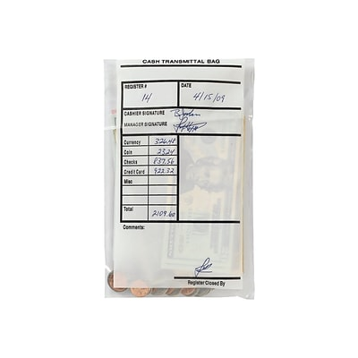 MMF Industries Deposit Bags, Clear 500/Box (236006920)