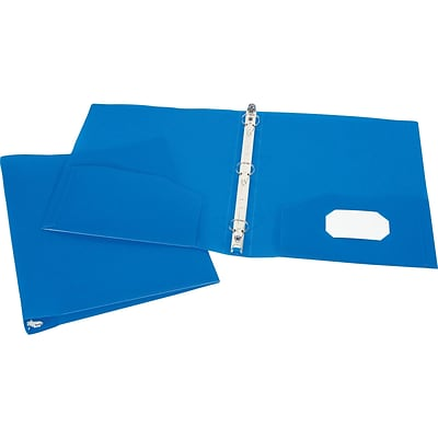 Storex Poly 1 3-Ring Non-View Binder, Blue (52108E24C)