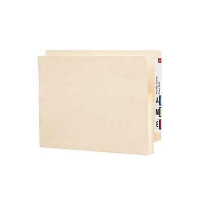 Smead End Tab File Pocket, Reinforced Straight-Cut Tab, 1-3/4 Expansion, Letter Size, Manila, 25/Box (75114)