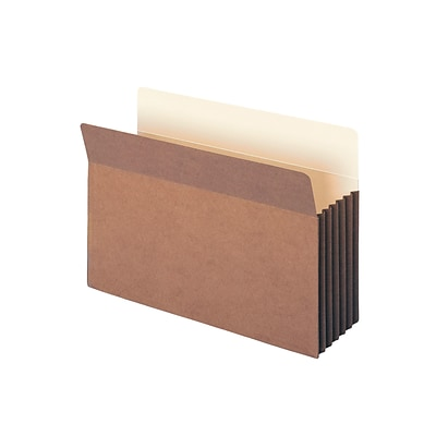 Smead Redrope File Pockets, Straight-Cut Tab, 5-1/4 Expansion, Legal Size, Brown, 10/Box (74274)