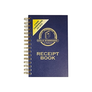 Rediform Gold Standard 2-Part Carbonless Receipts Book, 5L x 2.75W, 225 Forms/Book (8L829)