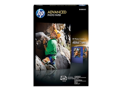 "HP Advanced Glossy Photo Paper, 4"" x 6"", 100/Pack (Q6638A)"