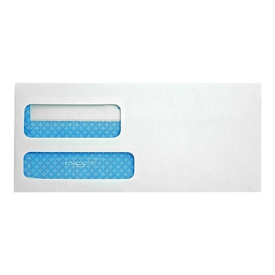 Quality Park Redi-Seal Security Tinted Business Envelopes, 3 7/8 x 8 7/8, White Wove, 500/Box (QUA24529)