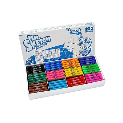 Mr. Sketch Scented Water Based Markers, Chisel, Assorted Colors, 192/Carton (98490)