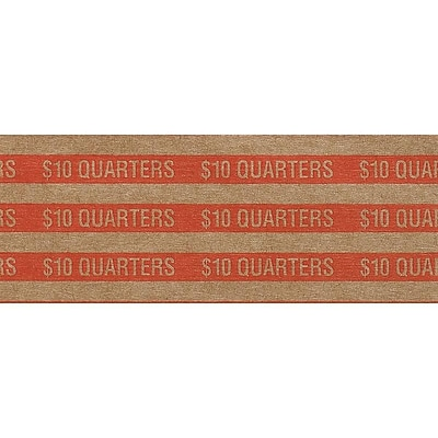 Pap-R Products Coin Wrappers, Orange 1000/Box (30025)