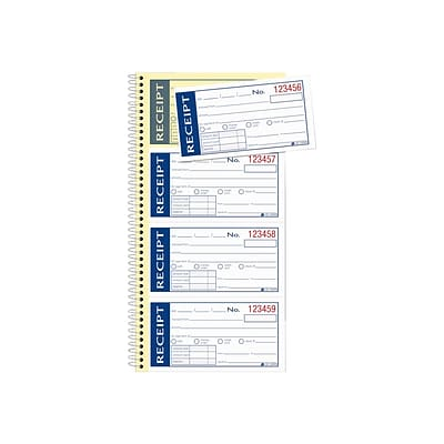 Adams Write N Stick 2-Part Carbonless Receipts Book, 2.75L x 4.75W, 200 Forms/Book, Each (SC1152WS)
