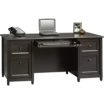 Sauder Edge Water Collection 65 Desk, Black (409042)