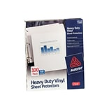 Avery Heavy Weight Sheet Protectors, 8.5 x 11, Clear, 100/Box (73900)