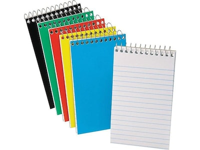"Ampad Top-Bound Memo Notebook, 3"" x 5"", Narrow Ruled, 50 Sheets, Assorted Colors (25-093)"