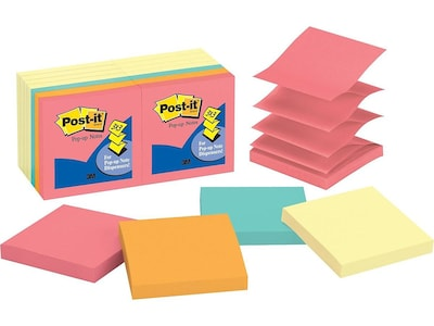 "Post-it Standard Notes, 3"" x 3"" Cape Town, 100 Sheets/Pad, 14 Pads/Pack (R330-14YWM)"