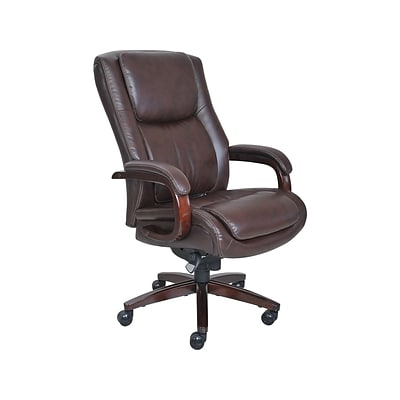 La-Z-Boy Winston Bonded Leather Executive Chair, Brown (44763)