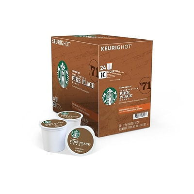 Starbucks Pike Place Coffee, Keurig® K-Cup® Pods, Medium Roast, 24/Box (9572)