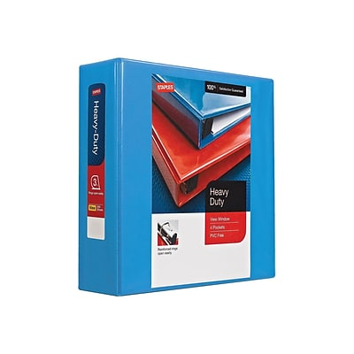 Staples Heavy Duty 3 3-Ring View Binders, Light Blue (56288-CC/26367)