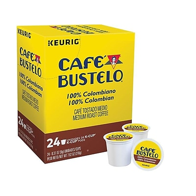 Cafe Bustelo 100% Colombian Coffee, Keurig® K-Cup® Pods, Medium Roast, 24/Box (6107)