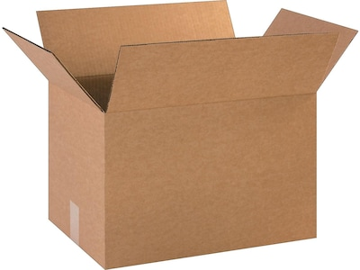 "18"" x 12"" x 12"" Shipping Boxes, ECT Rated, Kraft, 25/Bundle (BS181212)"