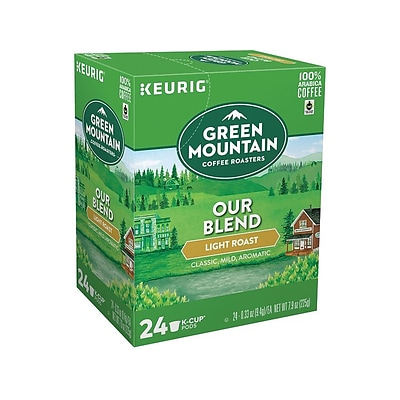 Green Mountain Our Blend Coffee, Keurig K-Cup Pods, Light Roast, 24/Box (6570)