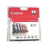 Canon BCI 6 Value Black/Color Ink Cartridges, 6/Pack (4705A018)