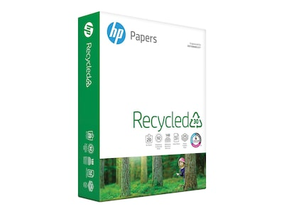 "HP 30% Recycled 8.5"" x 11"" Multipurpose Paper, 20 lbs, 92 Brightness, 500/Ream (HPE1120)"