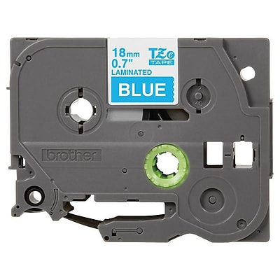 Brother TZE545 Label Maker Tape, 0.7W, White On Blue