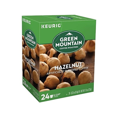 Green Mountain Hazelnut Coffee, Keurig® K-Cup® Pods, Light Roast, 24/Box (6792)