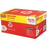 Staples 30% Recycled 11 x 17 Copy Paper, 20 lbs., 92 Brightness, 500/Ream, 5 Reams/Carton (112390)