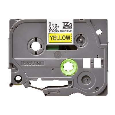 Brother TZeS621 Label Maker Tape, 0.35W, Black On Yellow