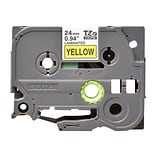 Brother TZ-E651 Label Maker Tape, 0.94W, Black On Yellow