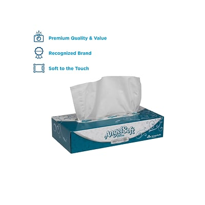 Angel Soft Ultra Professional Series Standard Facial Tissue, 2-Ply, 125 Sheets/Box, 30 Boxes/Pack (48560)