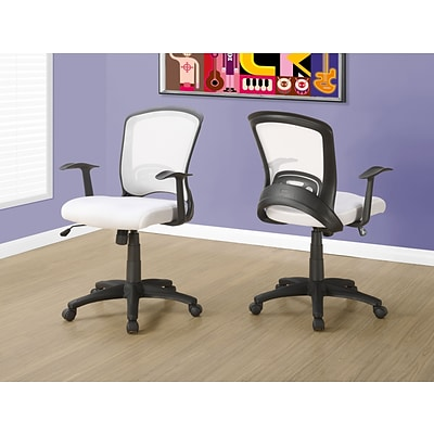 Monarch I 7266 Office Chair White Mesh