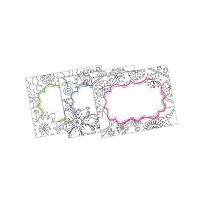 Barker Creek Color Me! In My Garden Name Tags, Self-Adhesive Labels, 3 1/2 x 2 3/4, 90/Pack (BC3771)