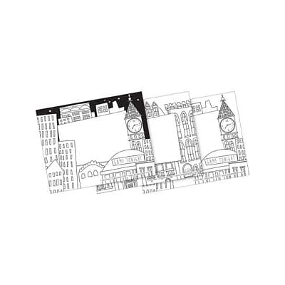 Barker Creek Color Me! Cityscapes Name Tags, Self-Adhesive Labels, 3 1/2 x 2 3/4, 90/Pack (BC3772)