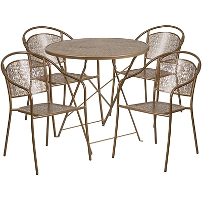 Flash Furniture Gold Indoor Outdoor Sets (CO30RDF03CHR4GD)