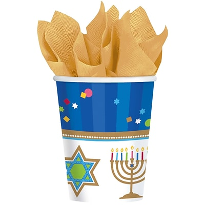 Amscan Hanukkah Celebrations Cup, 9oz, 3/Pack, 18 Per Pack (733803)