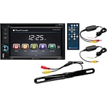 6.2 Double-DIN In-Dash Touchscreen DVD Receiver with Bluetooth® & Back-up Camera