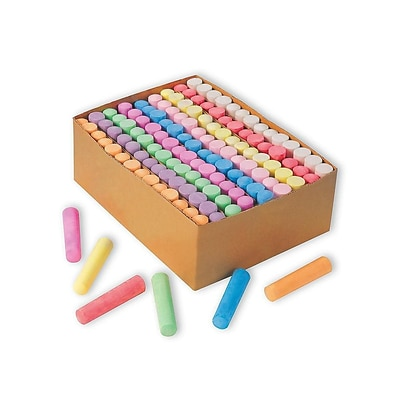 Color Splash Jumbo Sidewalk Chalk, Assorted Colors, 126/Box (SC877)