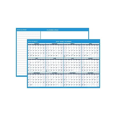 2019 AT-A-GLANCE 32H x 48W Wall Calendar, XL Horizontal, White (PM3002819)