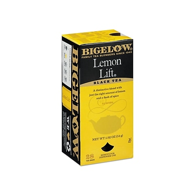 Bigelow Lemon Lift Black Tea Bags, 28/Box (BTC10342)