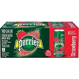 Perrier Strawberry Sparkling Water, 8.45 Oz., 10/Pack (12316295)