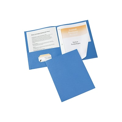 Avery 3-Prong Report Covers, Letter, Light Blue, 25/Box (47976)