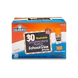 Elmers School Glue Sticks, 0.24 oz., 30/Pack (E555)
